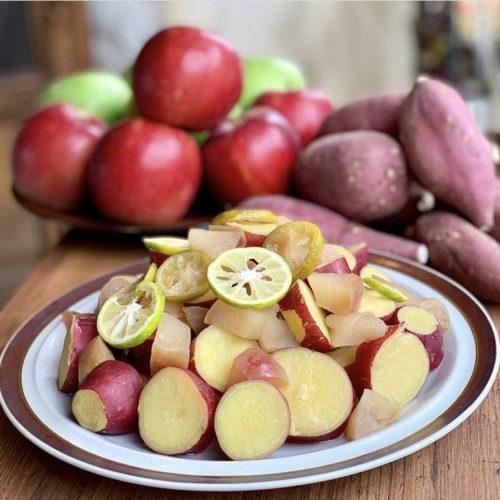 さつまいもとりんごのすだち甘煮