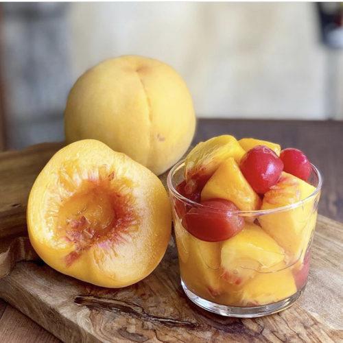 黄金桃とトマトのマリネ