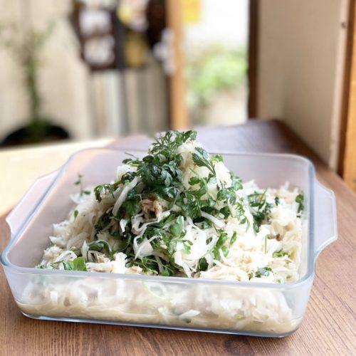 パクチーと大根のサラダ